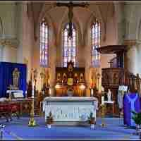 <strong>Religieus erfgoed - Sint-Bartholomeus kerk  Hillegem</strong><br> ©Herzele in Beeld<br><br><a href='https://www.herzeleinbeeld.be/Foto/1310/Religieus-erfgoed---Sint-Bartholomeus-kerk--Hillegem'><u>Meer info over de foto</u></a>