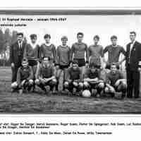 <strong>FC St Raphaël  -  Seizoen 1966-67     Provinciale junioren</strong><br>1966 ©Eddy De Moor<br><br><a href='https://www.herzeleinbeeld.be/Foto/2401/FC-St-Raphaël-----Seizoen-1966-67-----Provinciale-junioren'><u>Meer info over de foto</u></a>